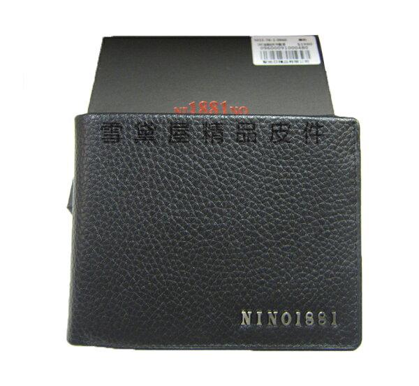 ~雪黛屋~18NINO81短夾專櫃男仕短夾100%進口牛皮加長型尺寸固定型證件夾附品牌禮盒BNI7A0960