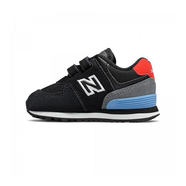 【NEW BALANCE】NB 574 童鞋 運動鞋 魔鬼氈 黑 小童 -IV574JHOW