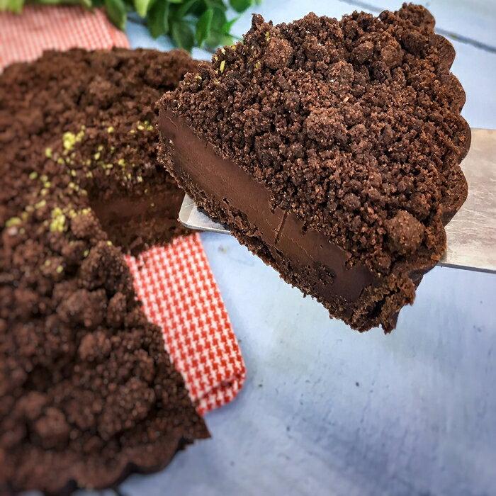 6吋▶65%莊園生巧克力塔
