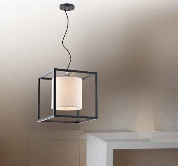 方形布幕吊燈 E27 * 1