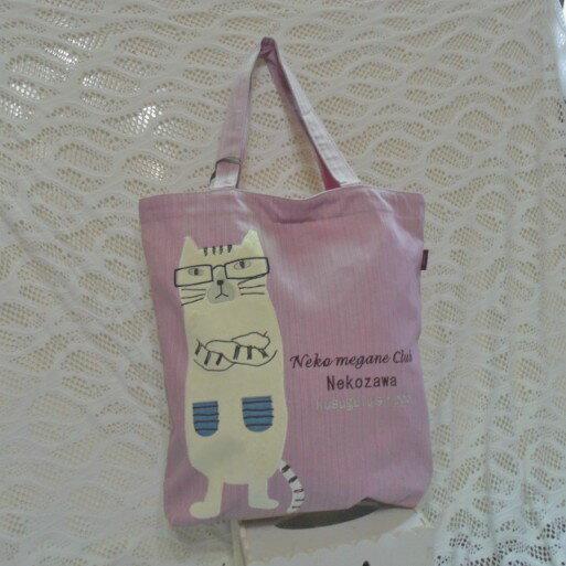 【Kusuguru】Neko貓-粉紅側背包(大)-★日本代購★