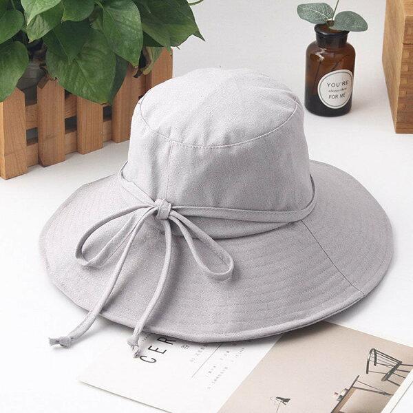 漁夫帽素色簡約布帽盆帽大帽簷遮陽漁夫帽【JYF0095】BOBI0412