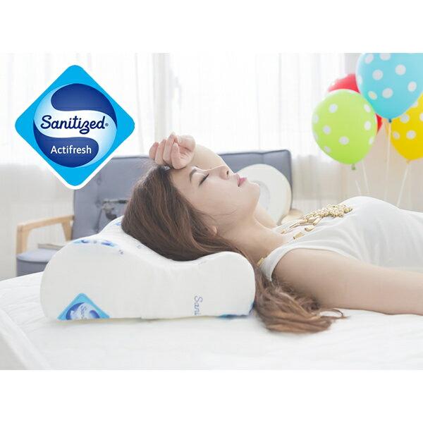 [Snug Nights]國際抗菌技術sanitized山寧泰☆防蹣抗菌釋壓記憶枕*台灣製/人體工學