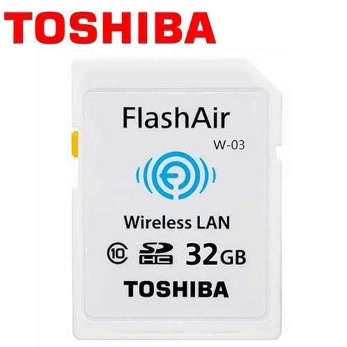 TOSHIBA 東芝 32GB FlashAir Wi-Fi SDHC W-03 無線傳輸 記憶卡