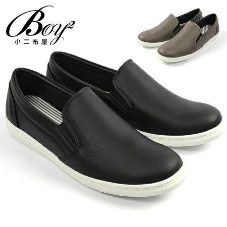 ☆BOY-2☆【NKP-GP52】板鞋型男素面簡約麂皮休閒伸縮懶人鞋