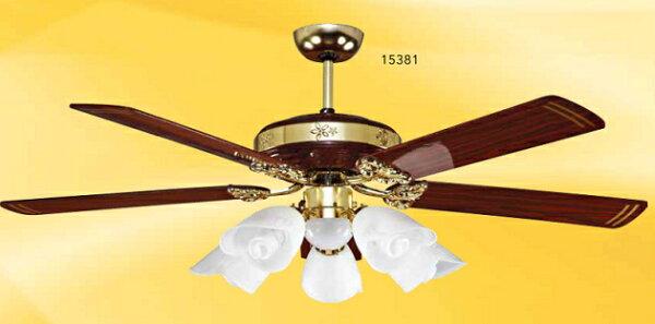 豪亮燈飾60吋楓葉DC手拉式5+1燈P.C紅木(18299C)【台灣製造】