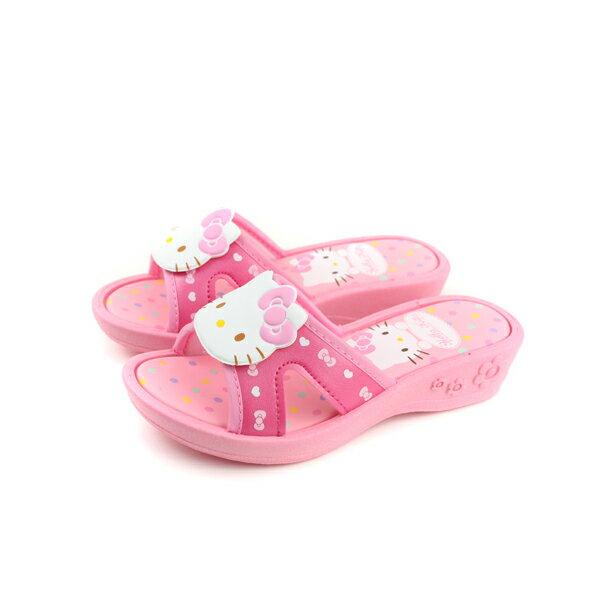 Hello Kitty 凱蒂貓 涼鞋 拖鞋 童鞋 粉紅色 中童 818124 no763 0