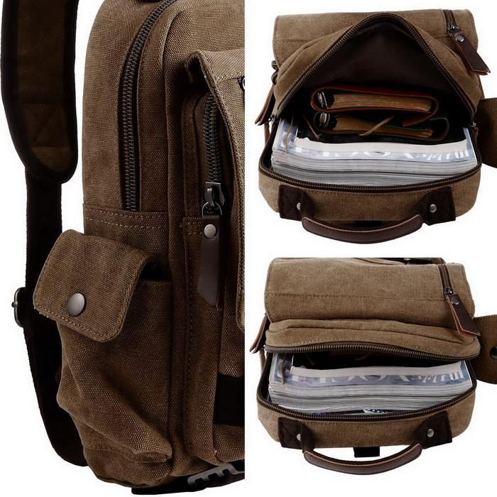 Canvas Unisex Travel Sports Sling Large Outdoor Backpack 1