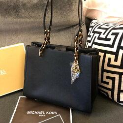 MK 經典防刮真皮琥珀金鍊肩背包 新款 開口磁扣 側背包 公事包 MICHAEL KORS 現貨 美國代購