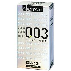 【Okamoto岡本OK】003 Platinum白金保險套 6片裝