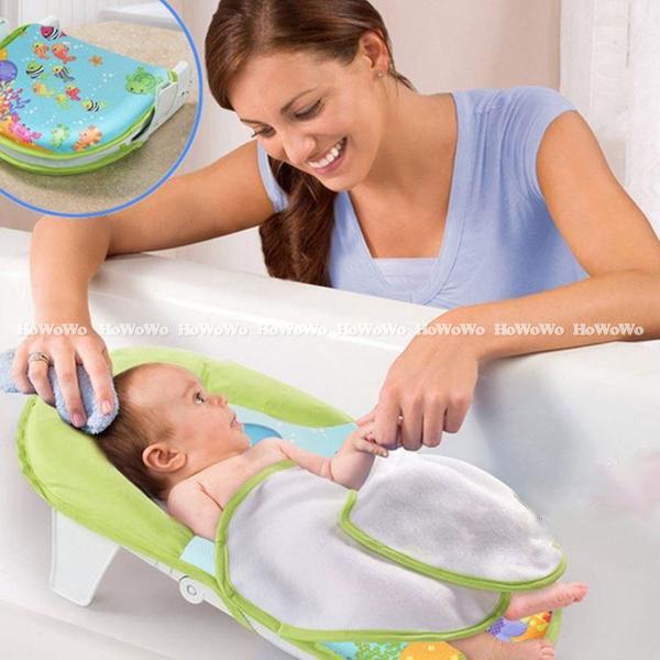 寶寶浴盆 可折疊式嬰幼澡盆 折疊式嬰兒洗澡椅 LS8031 好娃娃