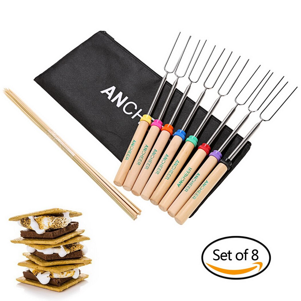 Stainless Steel Extensible Roasting Sticks Set 0