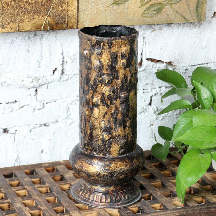 歐式巴洛克復古燭臺 銹感做舊 櫥窗陳列 別墅會所擺件 1入