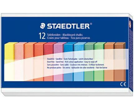 德國施德樓STAEDTLER施德樓無麈安全粉筆-12色組*MS2360
