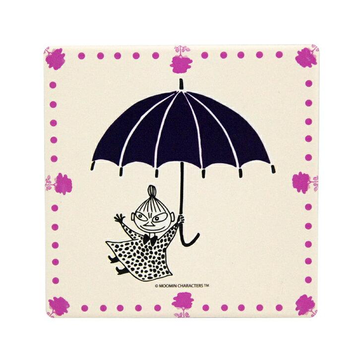 Moomin嚕嚕米正版授權 - 吸水杯墊:【 小紫傘 】 ( 圓 / 方 )