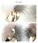 日本CREAM DOT  /  ピアス レディース シンプル ブランド 大きめ ミンクファー メタル 大人カジュアル 可愛い バイカラー グレー ベージュ カーキ ホワイト 秋冬  /  a03589  /  日本必買 日本樂天直送(1790) 5