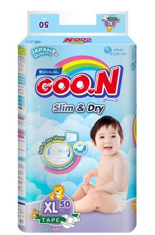 日本大王GOO.N 國際版黏貼型紙尿褲XL50片(串) -芯衣童裝
