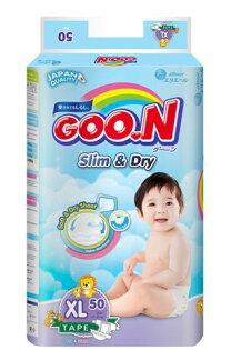 芯衣草童裝:日本大王GOO.N國際版黏貼型紙尿褲XL50片(串)-芯衣童裝