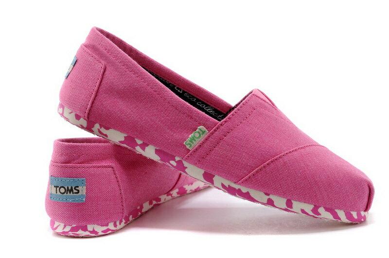 【TOMS】粉紅色花底帆布休閒鞋  Pink Earthwise Women's Vegan Classics 4
