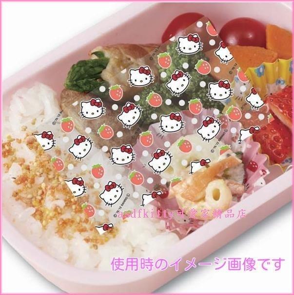 asdfkitty可愛家☆日本BANDAI KITTY 便當抗菌紙/抗菌隔菜板-日本製