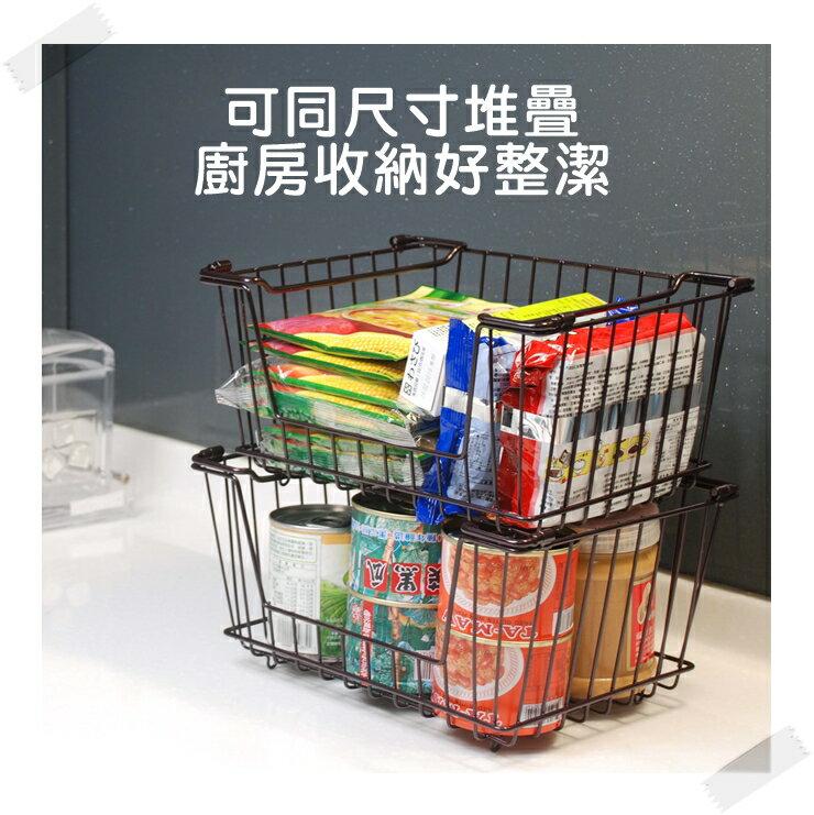 【凱樂絲】媽咪好幫手堆疊鐵線收納籃  一組三入促銷價899 - 自由DIY 空間利用 透氣通風, 客廳, 廚房, 衣櫃適用 6