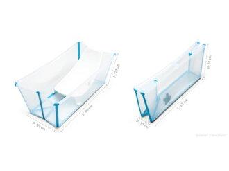 丹麥Flexi Bath 嬰幼兒折疊式浴盆 折疊浴盆 多功能浴盆 攜帶式浴盆【半透明色】