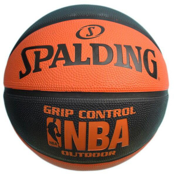 SPALDING 斯伯丁 7號 雙色籃球(橘/黑)SPA83081/一個入(特750) NBA籃球 Grip Control經典橘-Rubber~偉DFSP-16200R