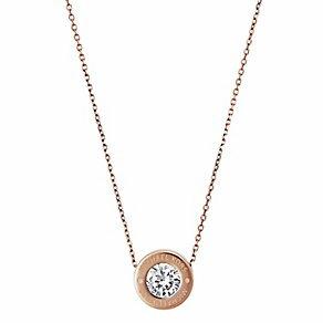 【MICHAEL KORS】MK 正品 Michael Kors Logo Crystal Necklace 項鍊 (金\銀\玫瑰金 共3色)【全店免運】 ARIBOBO 艾莉波波