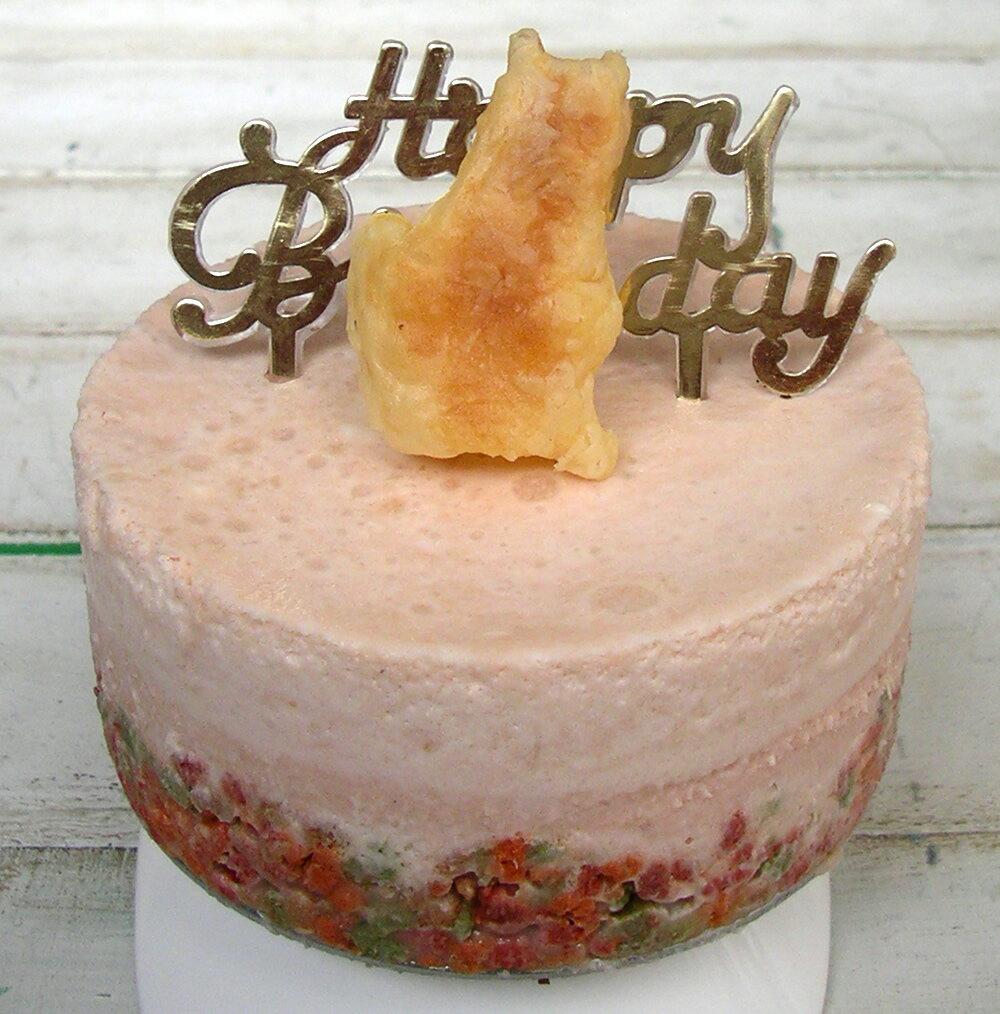 【粉嫩鮭魚】貓咪 Mousse 生日蛋糕-4吋