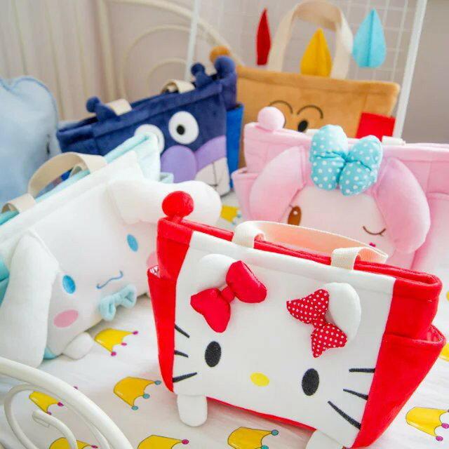 ❤**❤現貨❤**❤麪包超人細菌小子龍貓 卡通可愛便當包 小拎包毛絨手提包白雪公主美樂蒂卡通手提袋日本卡通手提袋