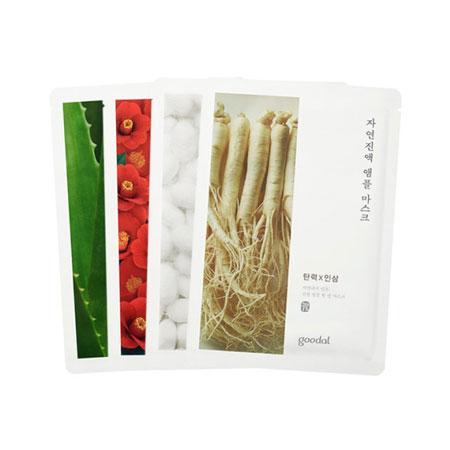 韓國 goodal 天然精華面膜系列(盒裝) 5片/盒 面膜 蘆薈 人蔘 茶花 蠶絲【N202830】