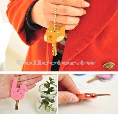 韓國 可愛動物家園鑰匙套 情侶鑰匙圈 吊飾