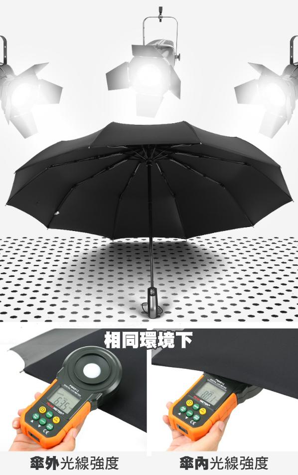 一鍵開收10骨加大晴雨傘 男士商務自動傘 兩用商務傘 折疊三折傘 雨傘 全自動 8