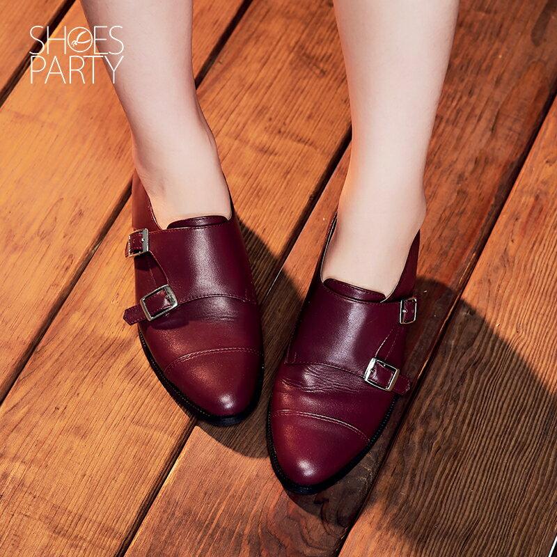 【P2-16712L】個性拼接孟克鞋_Shoes Party 2