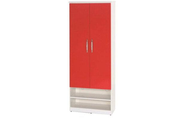 【石川家居】890-07(紅白色)鞋櫃(CT-331)#訂製預購款式#環保塑鋼P無毒防霉易清潔