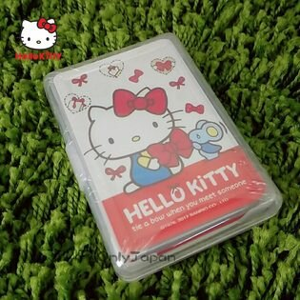 【真愛日本】18011700013撲克牌-KT蝴蝶結三麗鷗kitty凱蒂貓撲克牌桌遊紙牌