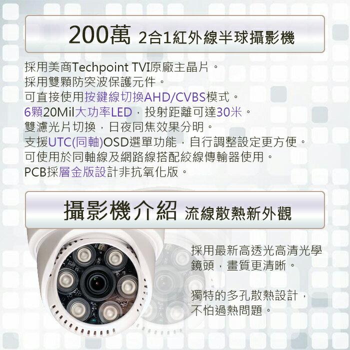 SAMPO聲寶-1080P紅外線半球型鏡頭 日夜兩用攝影機VK-TW2C65H