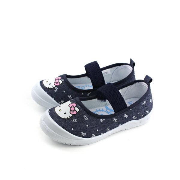 HelloKitty凱蒂貓娃娃鞋布鞋童鞋深藍色中童718621no768