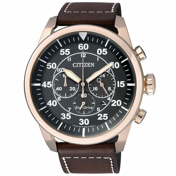 citizen星辰CA4213-00E西部牛仔光動能計時碼錶/黑面45mm