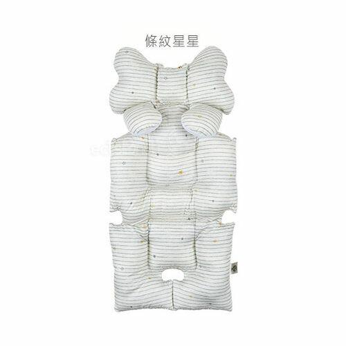 韓國Aribebe 結合頸枕 推車襯墊 3D雙面全身包覆墊(厚)一般棉-條紋星星款★愛兒麗婦幼用品★