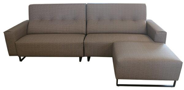 【尚品傢俱】810-04幾何藝術L型耐磨皮沙發