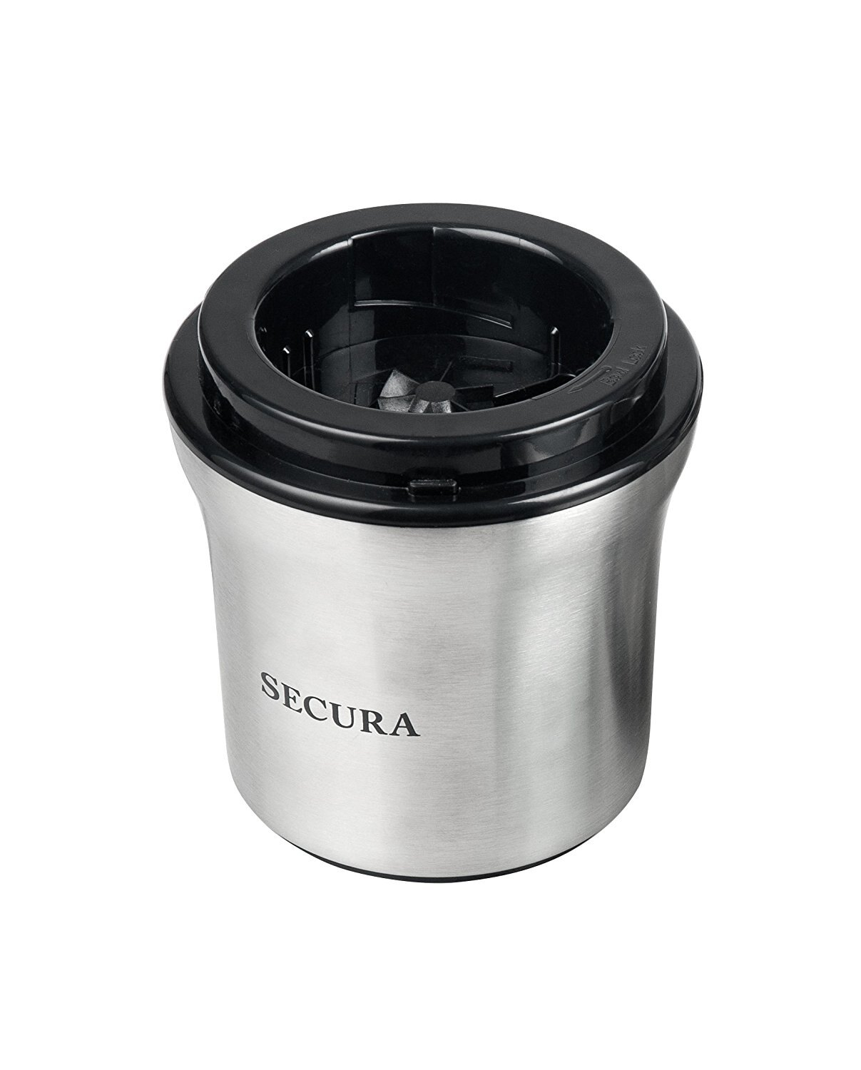 Secura Electric Coffee and Spice Grinder with Stainless Steel Blades Removable Bowl 3