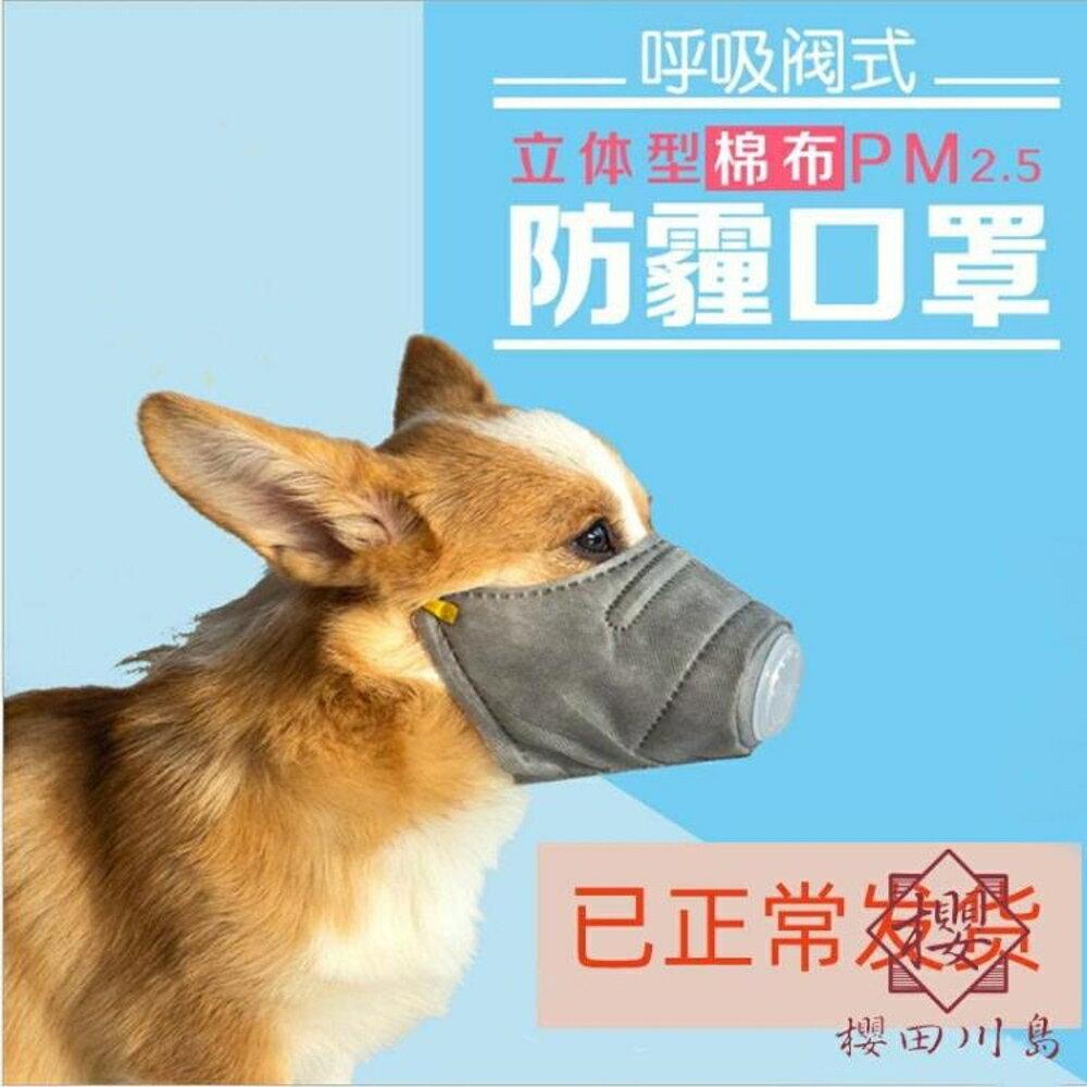 狗狗嘴套狗狗口罩小型犬防咬防亂吃【櫻田川島】