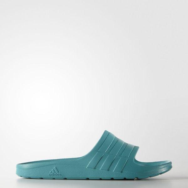 《限時特價↘629免運》ADIDAS DURAMO SLIDE 拖鞋 男鞋 鞋 防水 一體成型 湖水綠 【運動世界】 S77990