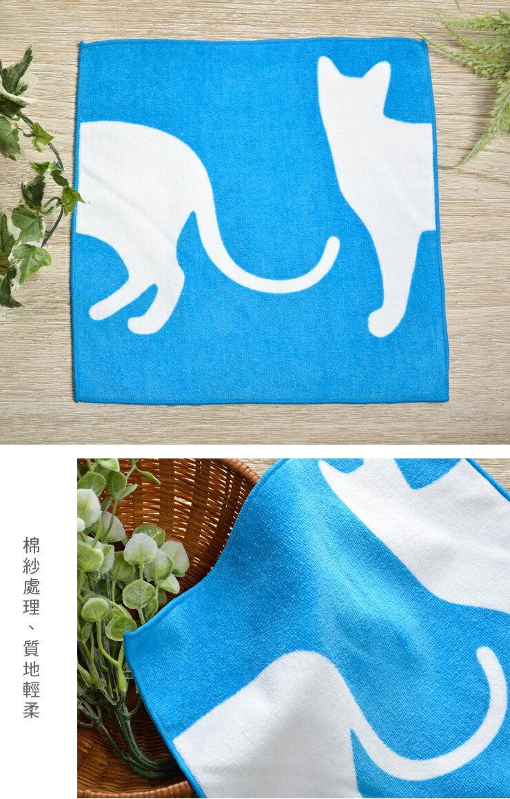 日本今治 - ORUNET - 貓咪手帕(白貓藍底)《日本設計製造》《全館免運費》,有機棉,有機棉來自3年以上無化學肥料&無農藥之土地,生產階段亦無使用任何藥劑、無漂白、無染色,採用最純淨的有機棉製作最天然安心的產品。