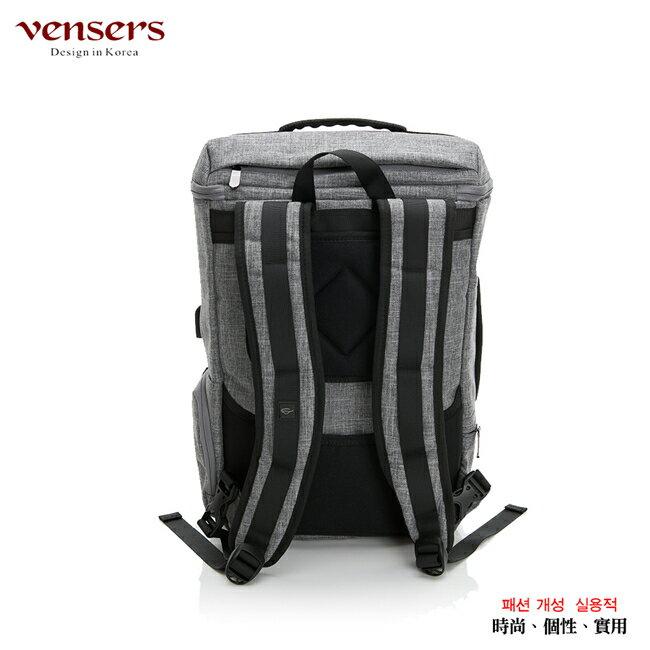 【vensers】 多功能時尚後背包 (S700302淺灰) 1