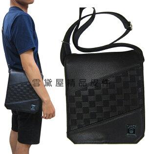 ~雪黛屋~SPITFIRE肩側包小容量扁包主袋內五隔層袋口設計隨身物品肩背可斜側背防水尼龍布+皮革G71172
