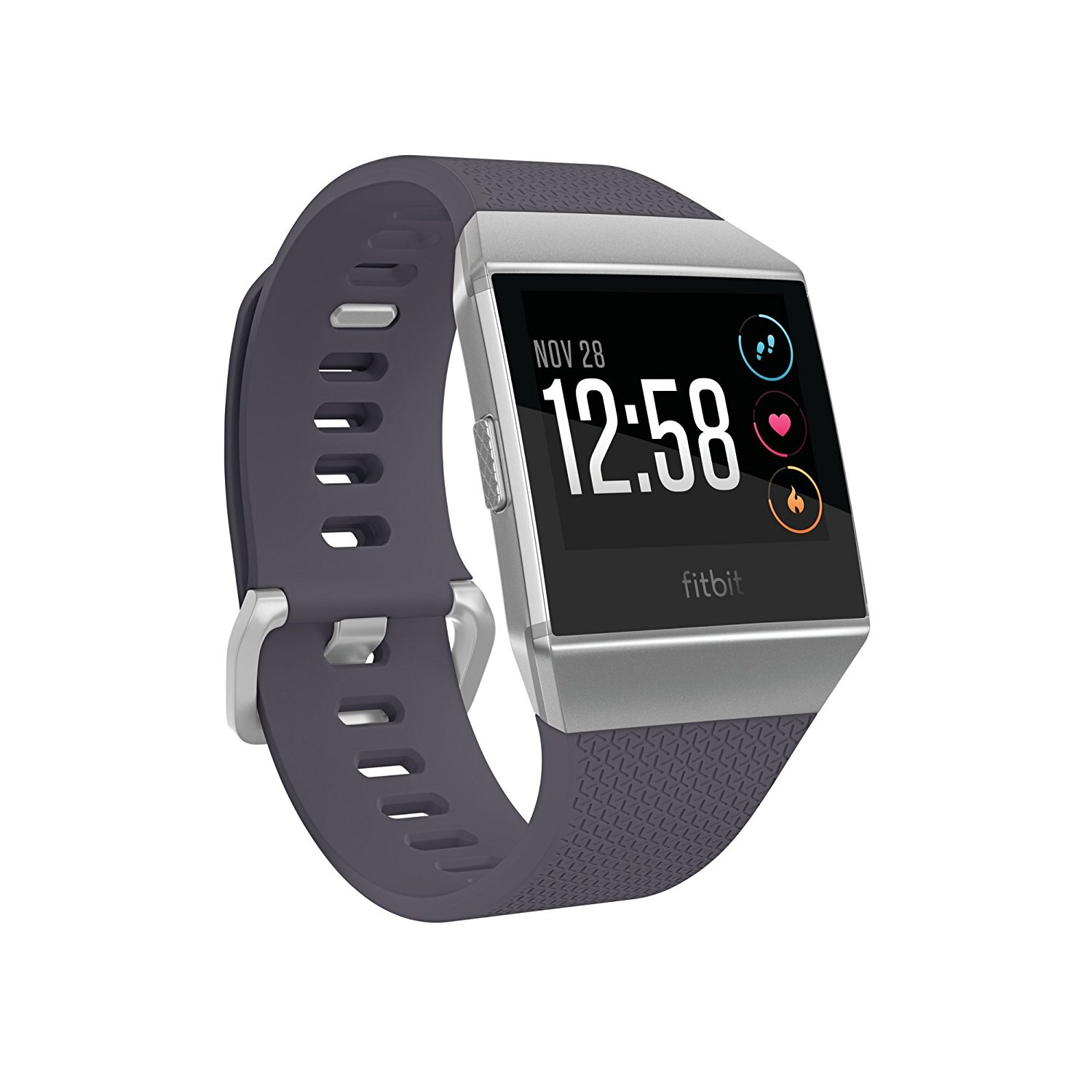 Fitbit Ionic Smartwatch Activity Tracker Heart Rate Monitor - Blue-Gray/Silver