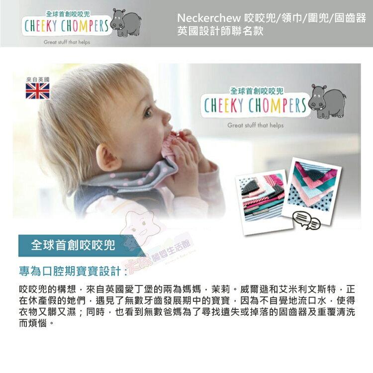 【大成婦嬰】英國製 Cheeky Chompers 設計師聯名款-咬咬兜 圍兜 口水巾 1