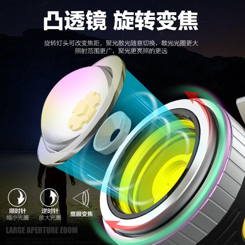 釣魚燈夜釣燈藍光氙氣燈強光超亮裝備疝氣激